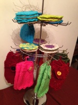 Savvy Frills handmade knit and crochet scarves gloves by Karen Williams